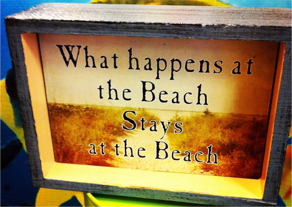 What Happens At The Beach...